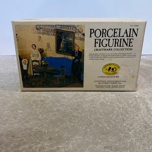 Vintage Porcelain Figurine Gentleman Craftmark diy